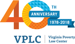 virginia poverty law group 40th anniversary badge